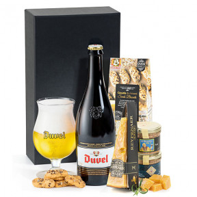 Duvel Belgian Beer, Cheese & Pate