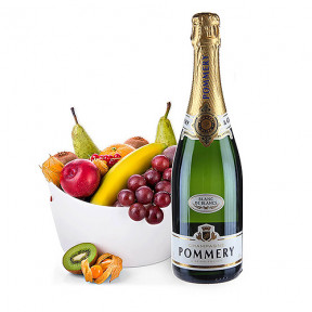 Pommery Blanc De Blancs and Fruit