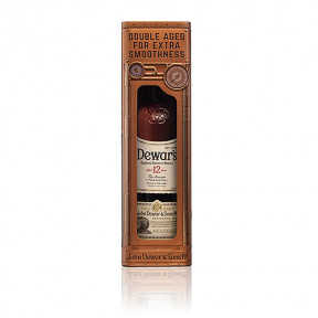 Bacardi Dewar's 12 Years in Clock Tin Box, 70 cl