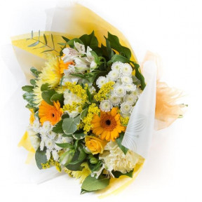 Gold & White Tied Bunch (Standard)