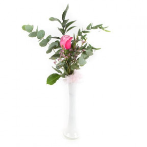 Single Pink Rose (Small)