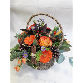 Orange Festive Basket