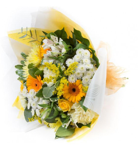 Gold and White Tied Bunch (Small)