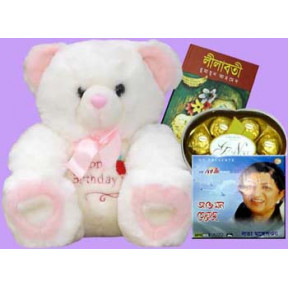 Bear,Book,Audio Cd WithChocolates