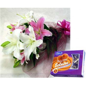 Mixed Lilies With Chocolate