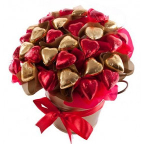 Heart Shaped Chocolate Bouquet