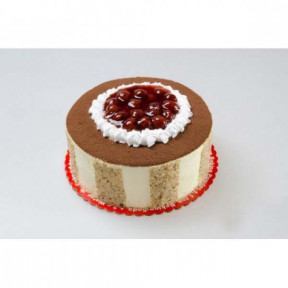 White Chocolate Cherry Truffle Cake