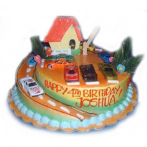 Drive Around Birthday Cake