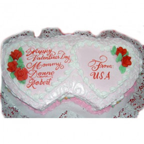 Hugs And Kisses Cake
