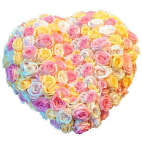 Heart - Pastel Roses (Small)