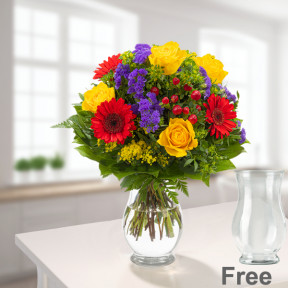 Flower Bouquet Blütenfee with vase