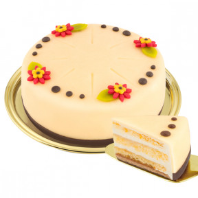 Dessert marzipan cake for