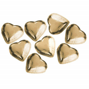 8 Gold Belgian Hearts