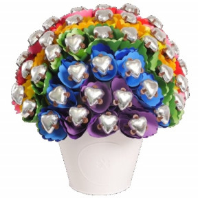 Rainbow Love Chocolate Bouquet Medium
