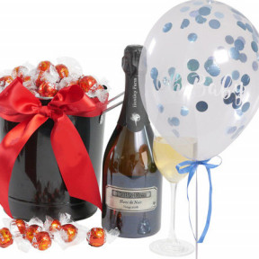 Barossa Celebration With 'Oh Baby' Blue Confetti Balloon