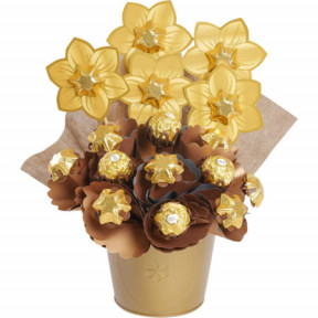Golden Small Chocolate Bouquett