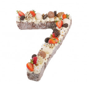 Number Seven Chocolate Lamington Birthday Cake