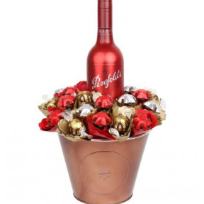 Luxury Red Wine Chocolate Bouquet