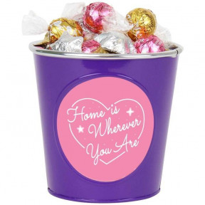 'Home Is Wherever You Are' Chocolate Bucket