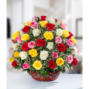 Premium Rose Basket
