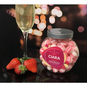 Personalised Strawberry And Prosecco Sweet Jar
