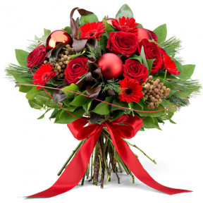 Red Festive Bouquet - Large (35 cm)