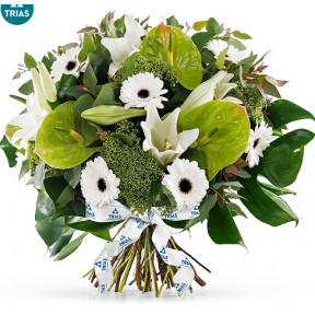 Trias White Sparkle Bouquet - Large (35 cm)