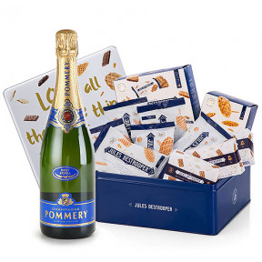 Pommery Brut And Destrooper Gift Box