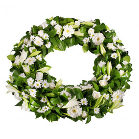 Funeral wreath White Large