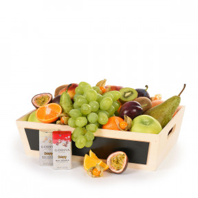 Classic Leather Fruit and Chocolate Basket