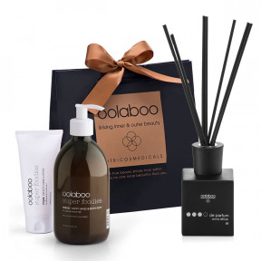 Oolaboo Hand Soap, Hand Lotion and Sandalwood Geurststokjes
