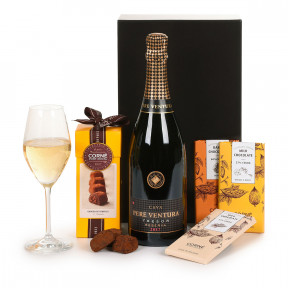 Cava Pere Ventura AND Corne Port-Royal Chocolate