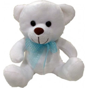 Teddy Bear With Blue Bow 20Cm