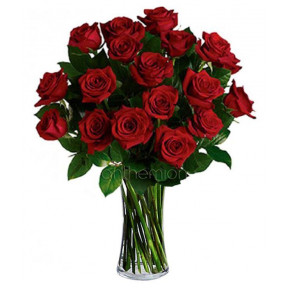 Bouquet Of 18 Red Roses
