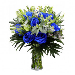 Bouquet Of 10 Blue Roses