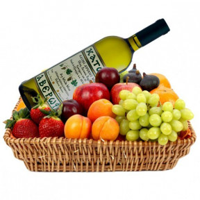 Basket Filled With Fruits And Wine (small)