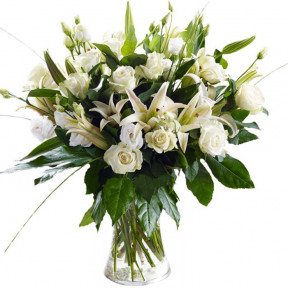 All White Bouquet (small)