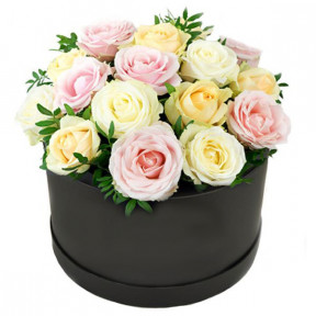 Pastel Mixed Roses In Gift Box (small)