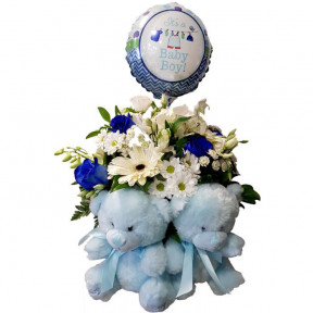 Flower Arrangement For Twin Boys