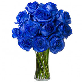 Royal Blue Roses Bouquet