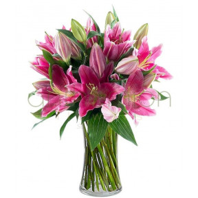 Fresh Bouquet In Pink Shades (Basic)