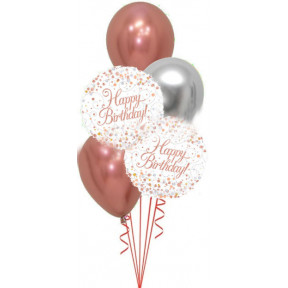 Happy Birthday Fizz Rose Gold Bouquet