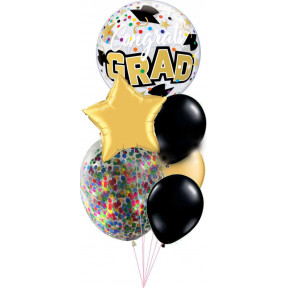 Glittering Graduation Balloon Bouquet