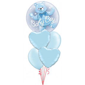 It's a Boy Bear Double Bubble Baby Bouquet