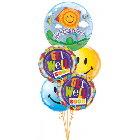 Get Well Soon Kite Bubble & Smiles Bouquet