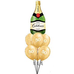 50th Anniversary Champagne Bouquet