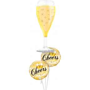 Cheers Champagne Glass Bouquet
