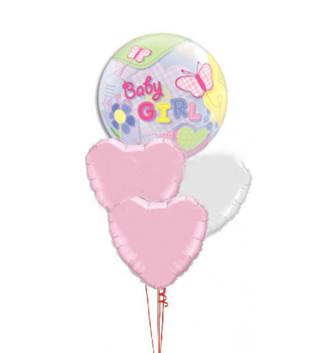 Baby Girl Bubble & Hearts Bouquet