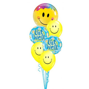 Get Well Yellow Smiles Bouquet
