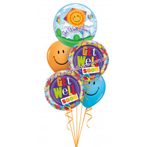 Get Well Soon Smiley Kite Bouquet
